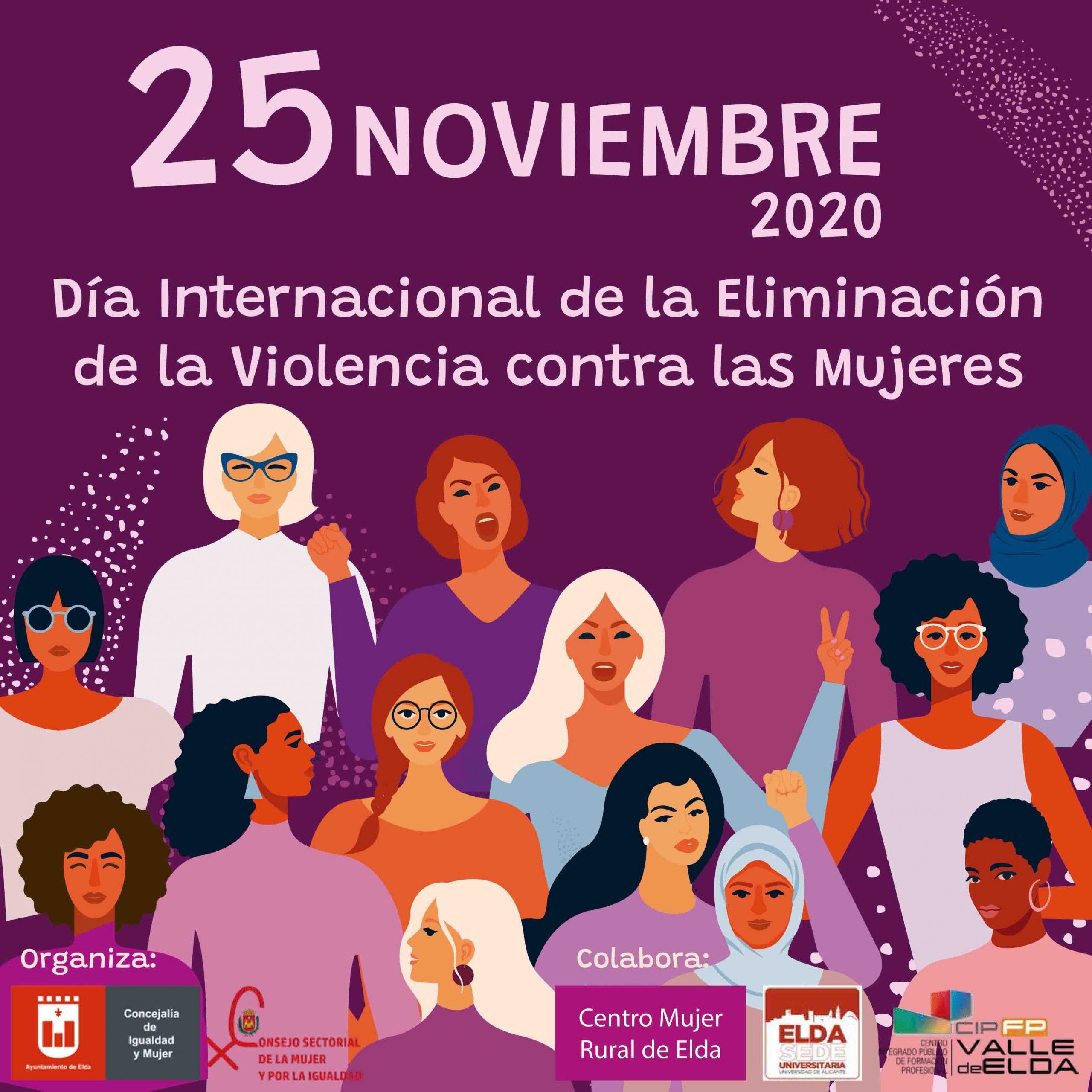 Actividades de la Concejalía de Igualdad y Mujer del Ayuntamiento de Elda por el Día Internacional de la Eliminación de la Violencia contra la Mujer