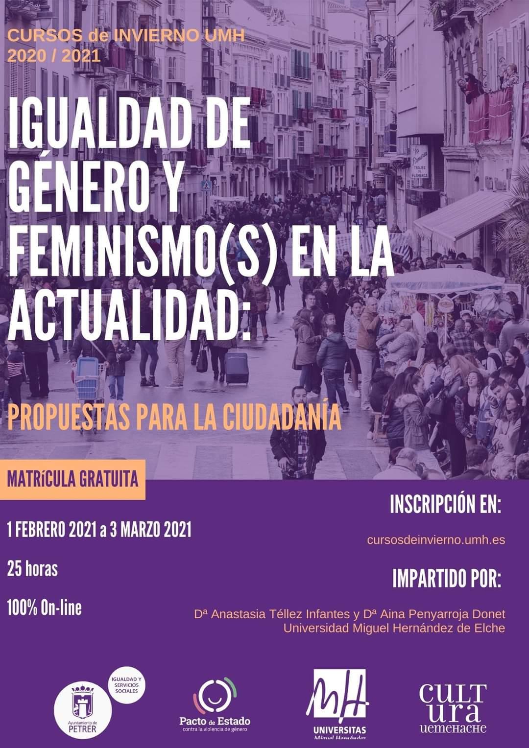Curso Igualdad de género y feminismo(s) en la actualidad