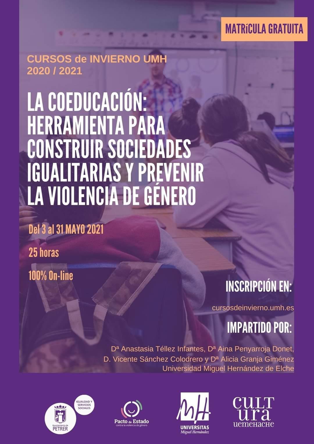 Curso Coeducación: herramienta para construir sociedades igualitarias y prevenir violencia de género