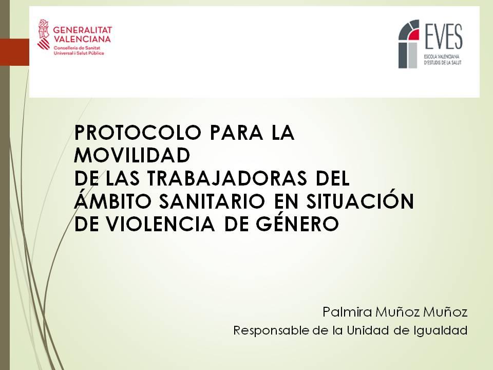 Protocolo para la movilidad de las trabajadoras del ámbito sanitario en situación de violencia de género